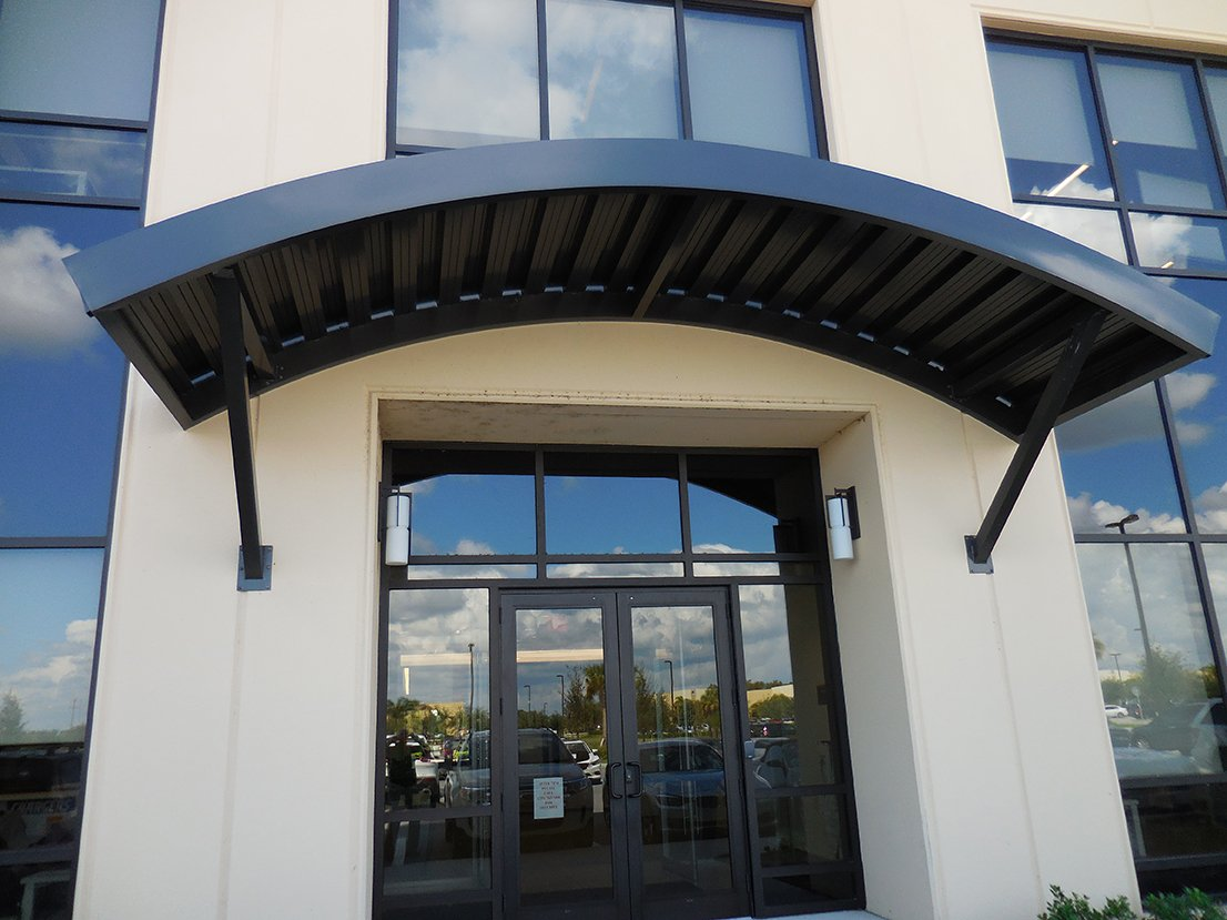 Custom Shade Canopies : Commercial custom canopy welded